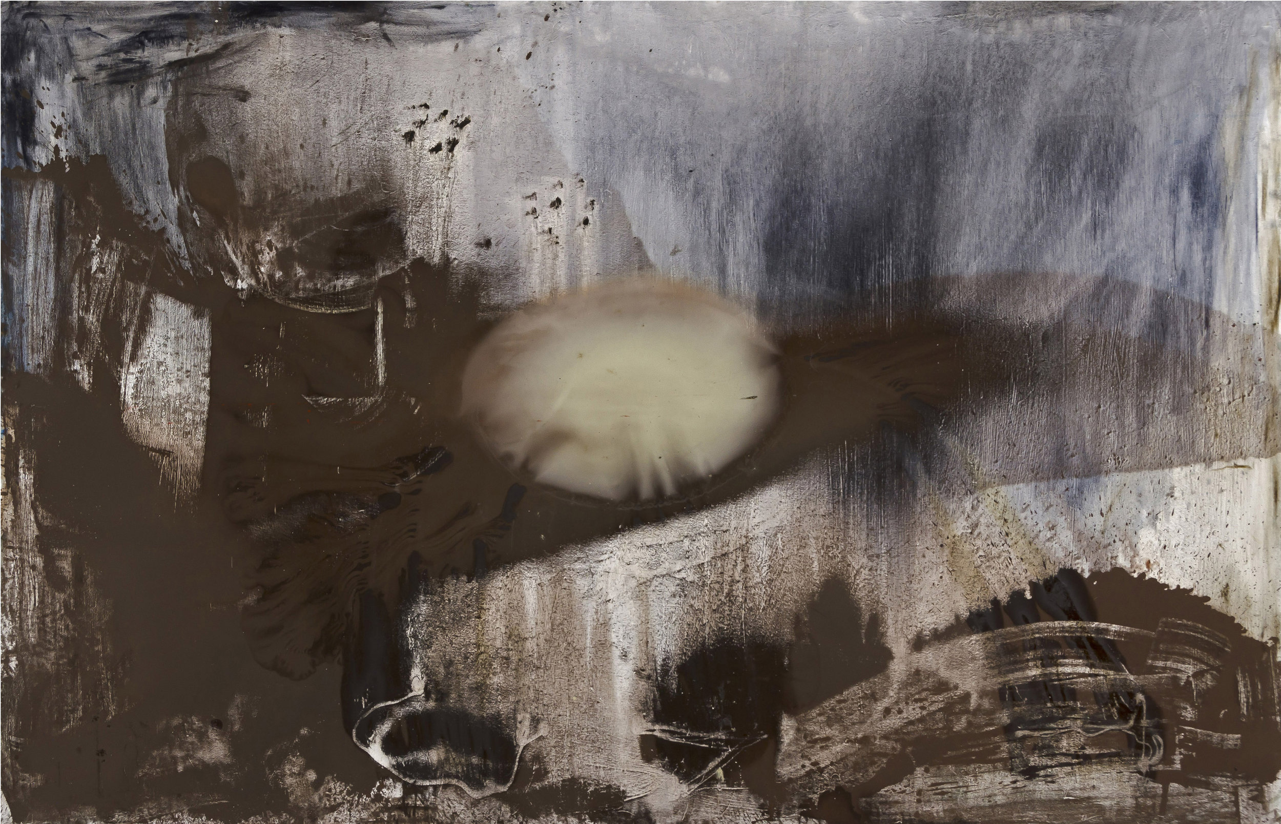 "Friday . Oil on canvas.    84"" x 132"". 2015."