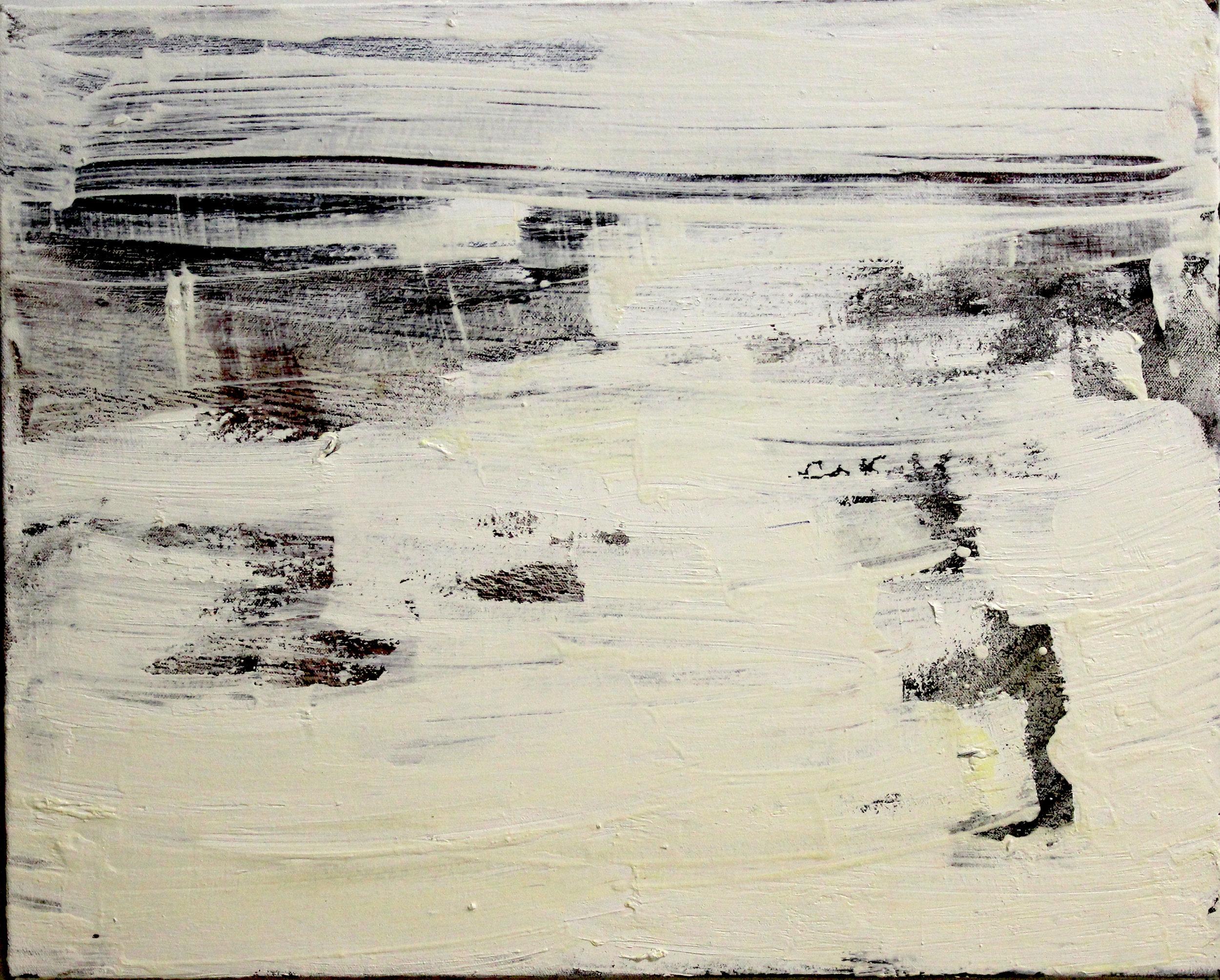 "Drift/Draft.  Oil on canvas.    16"" x 20"". 2015."