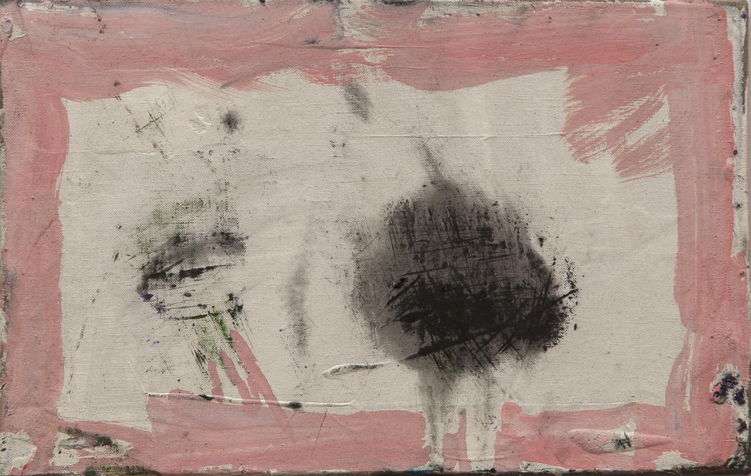 "Felix . Oil on linen.    10"" x 16"". 2016."