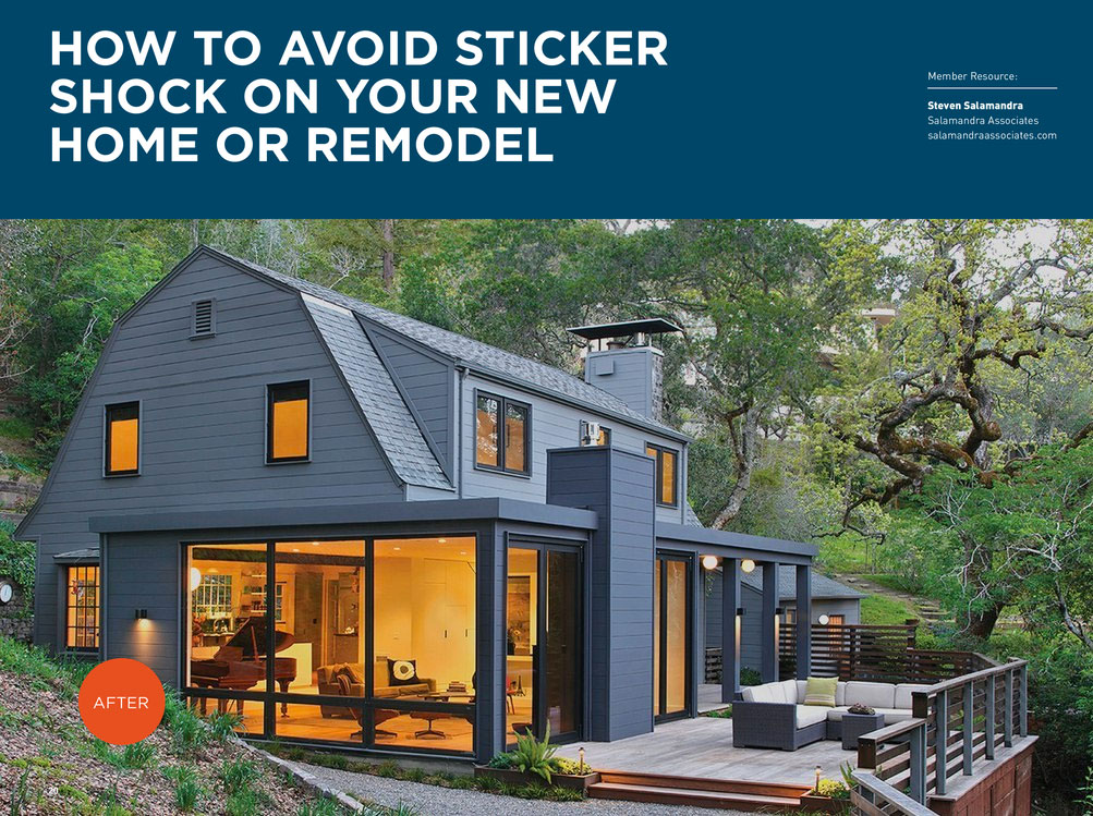 Article in Marin Home Builders Resource Guide