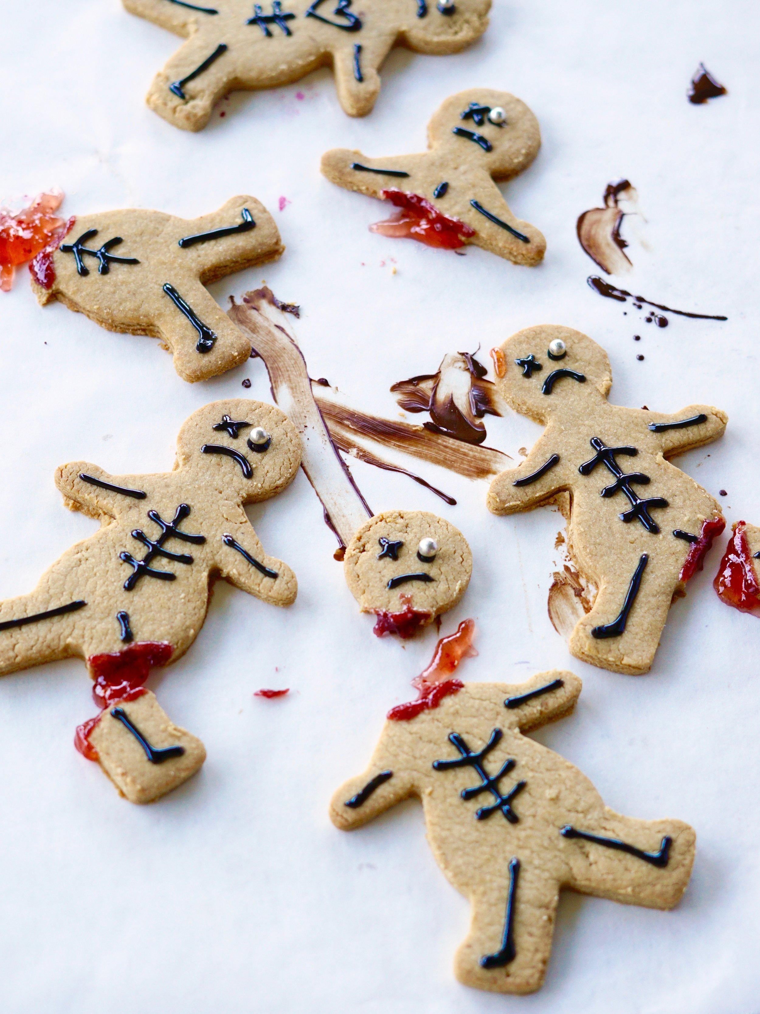 shortbread skeletons food photography