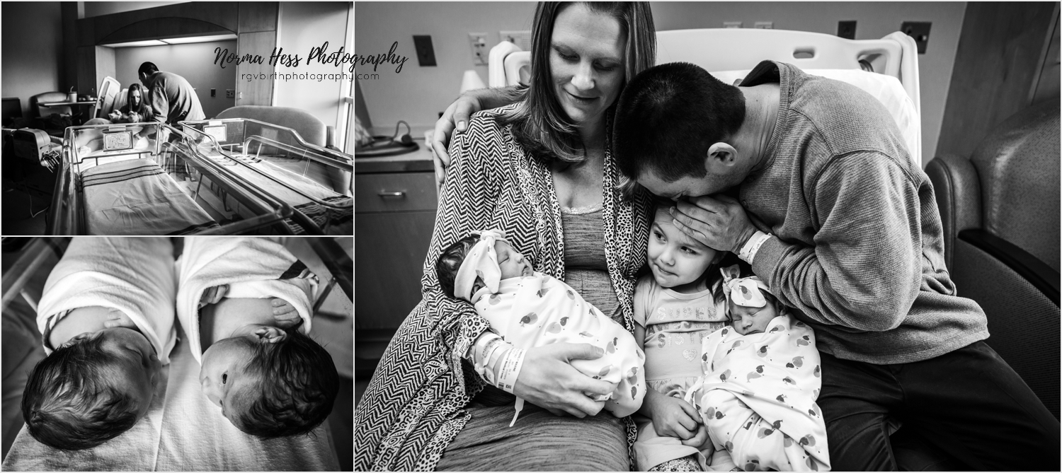 Twin Newborn Photos by Norma Hess Photography in McAllen, Texas. rgvbirthphotography.com