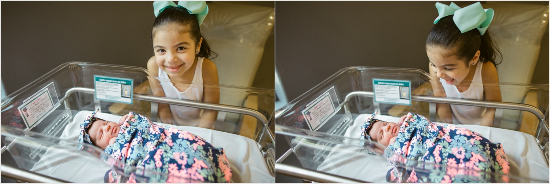 Big sister meeting her baby sister! Fresh 48 Session at DHR Edinburg, Texas   Sojourningbirth.com