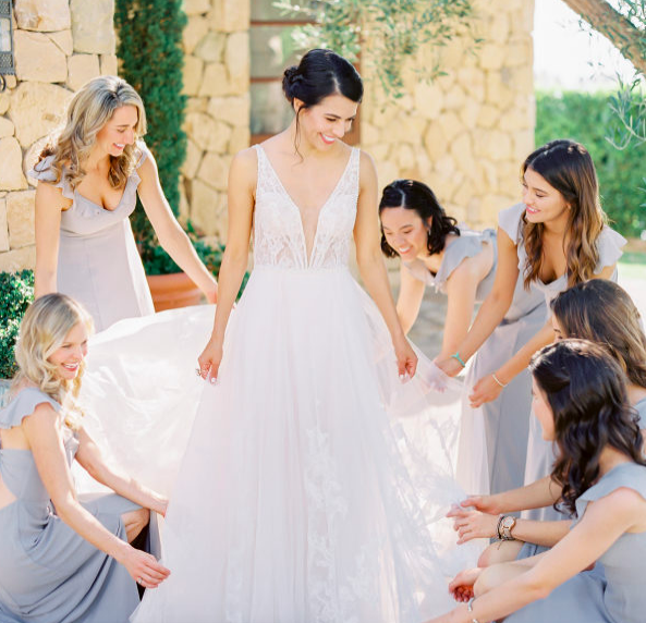 A Romantic Garden Wedding by the Sea at Klentner Ranch