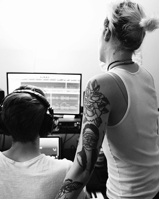 How are you liking Co-Pilot? What do you want to see next? A behind the scenes of making the track? A stripped version? Would you be excited to know that we have both? ❤️📸 @rhg_photo got this quick photo of April & Kevin working on something sweeeet yesterday 🙏🏻