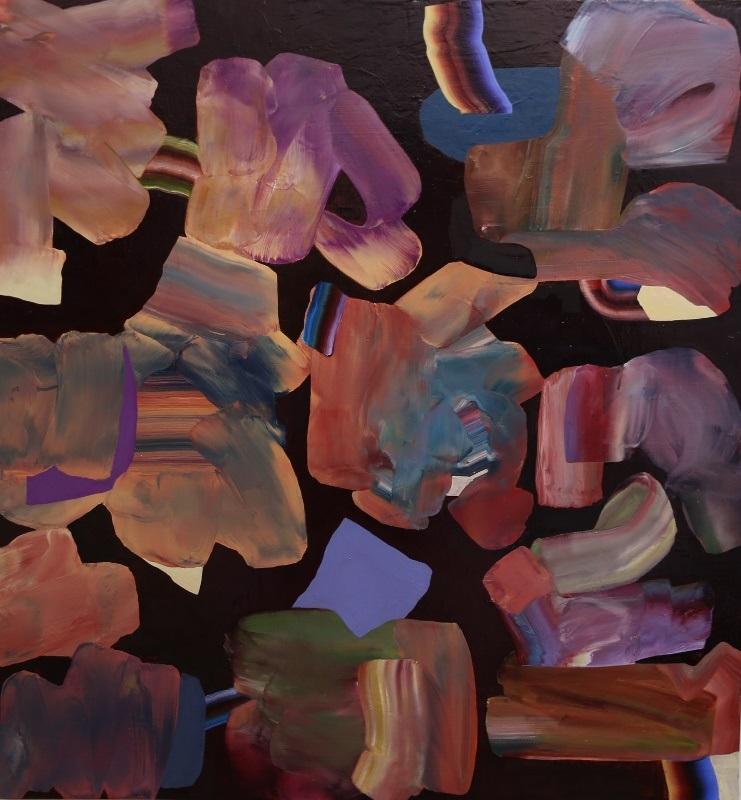 Untitled oil on board 125cm x 130cm