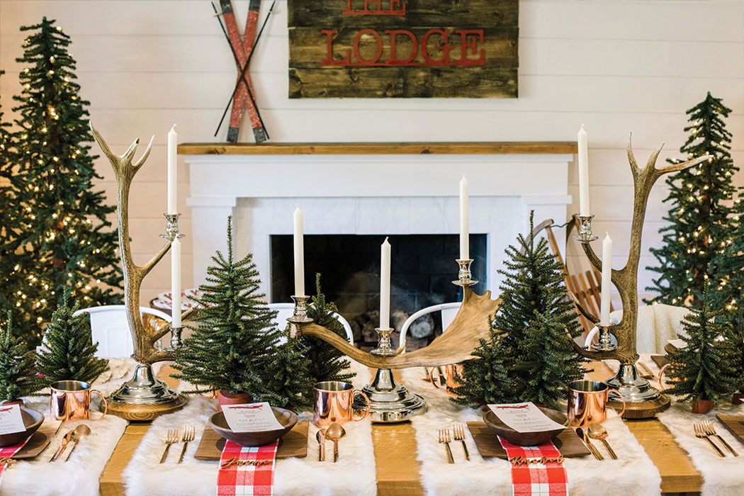 """Lauren Conrad - Get inspired to throw your own """"Apres at The Lodge"""" dinner party by checking out all the cozy details on our feature at laurenconrad.com"""
