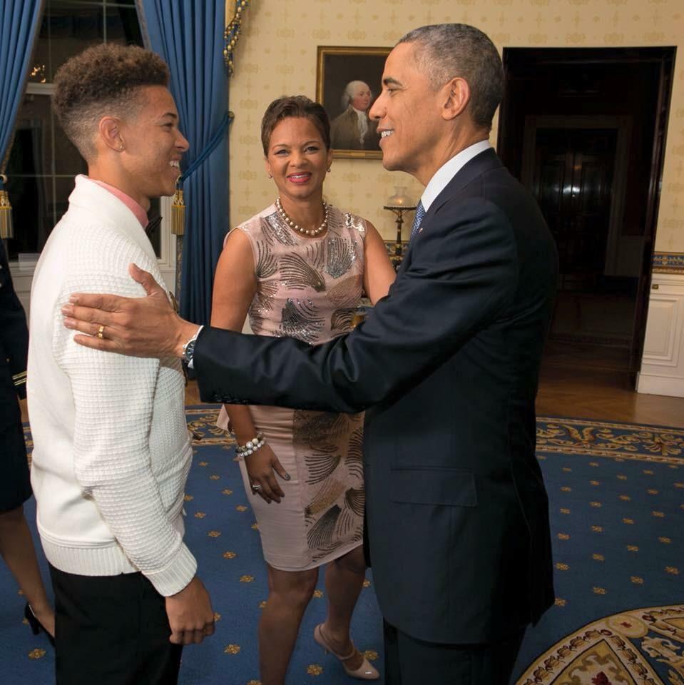 Shonda Scott and President Barack Obama