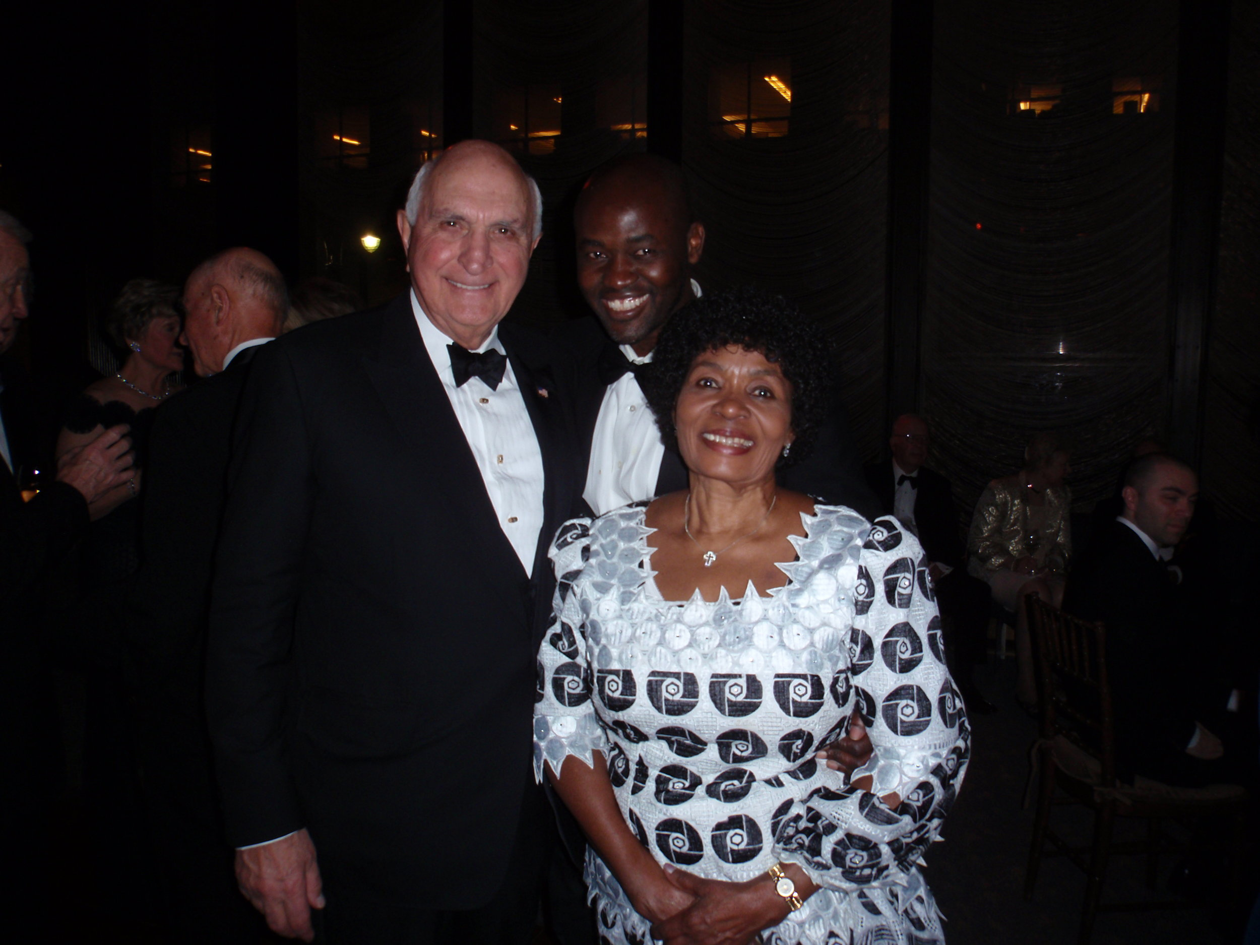 At the wedding reception, I introduced my mom to  Ken Langone, the down-to-earth billionaire who co-founded Home Depot .