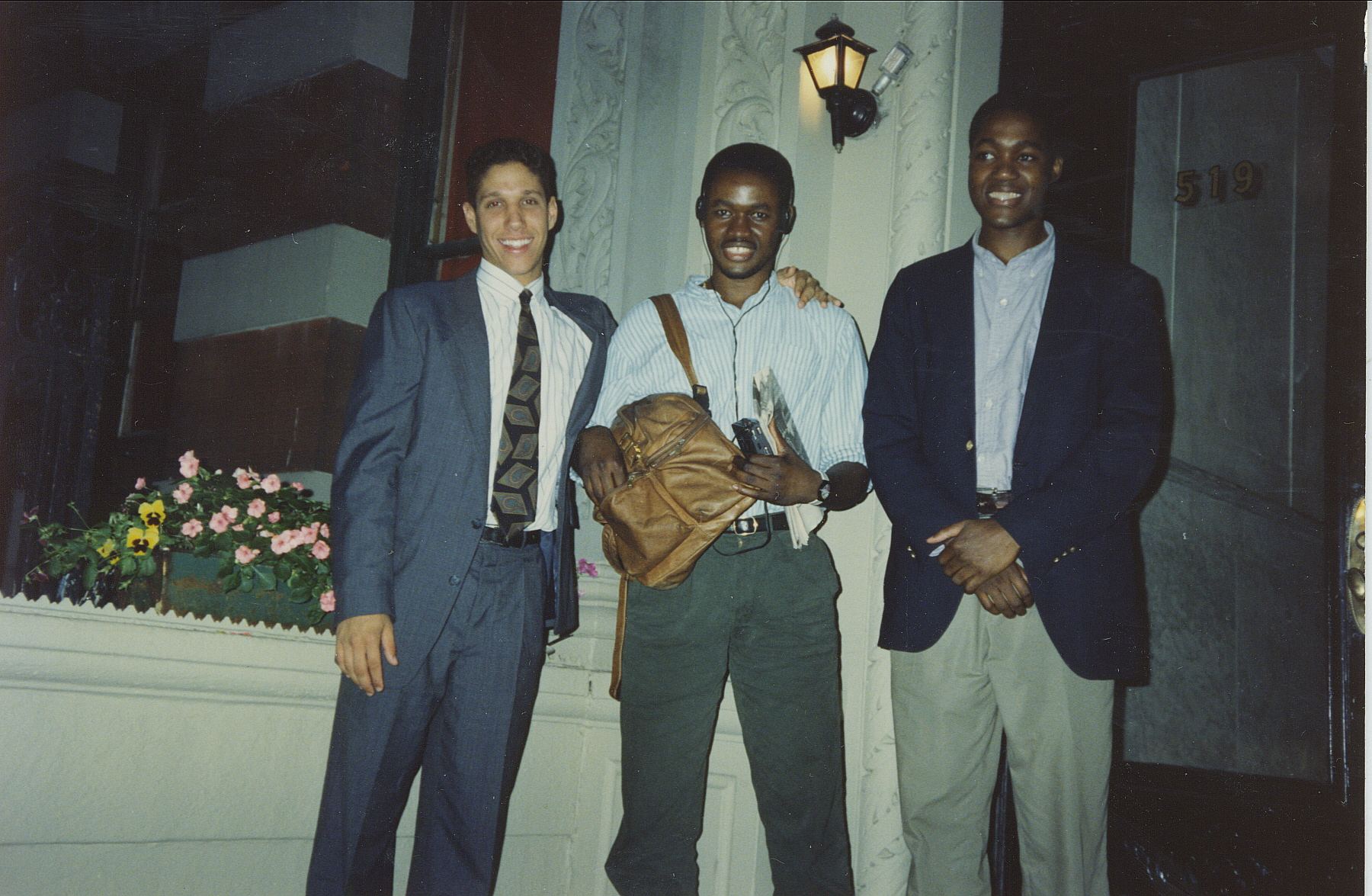 The building that I grew up in was on 121st between Amsterdam and Broadway. In this photo circa 1990, I'm sandwiched by Rhahime Bell and my youngest brother,  Nana, who would die after the 1995 earthquake in Kobe, Japan .