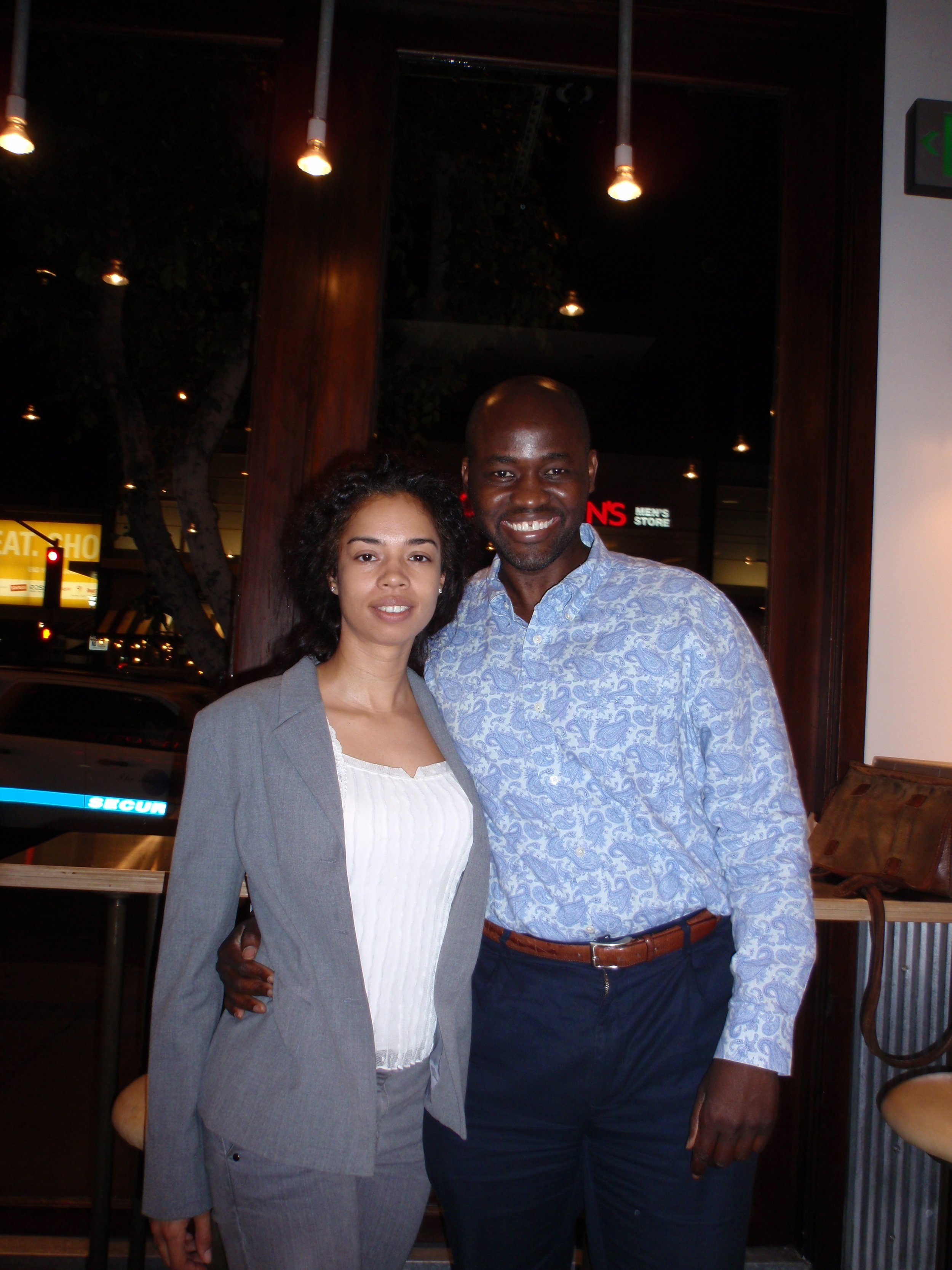 LOS ANGELES, November, 17, 2009: I catch up with my friend, Tanya Young, a talented television writer who I first met in my old neighborhood where she attended Columbia University.