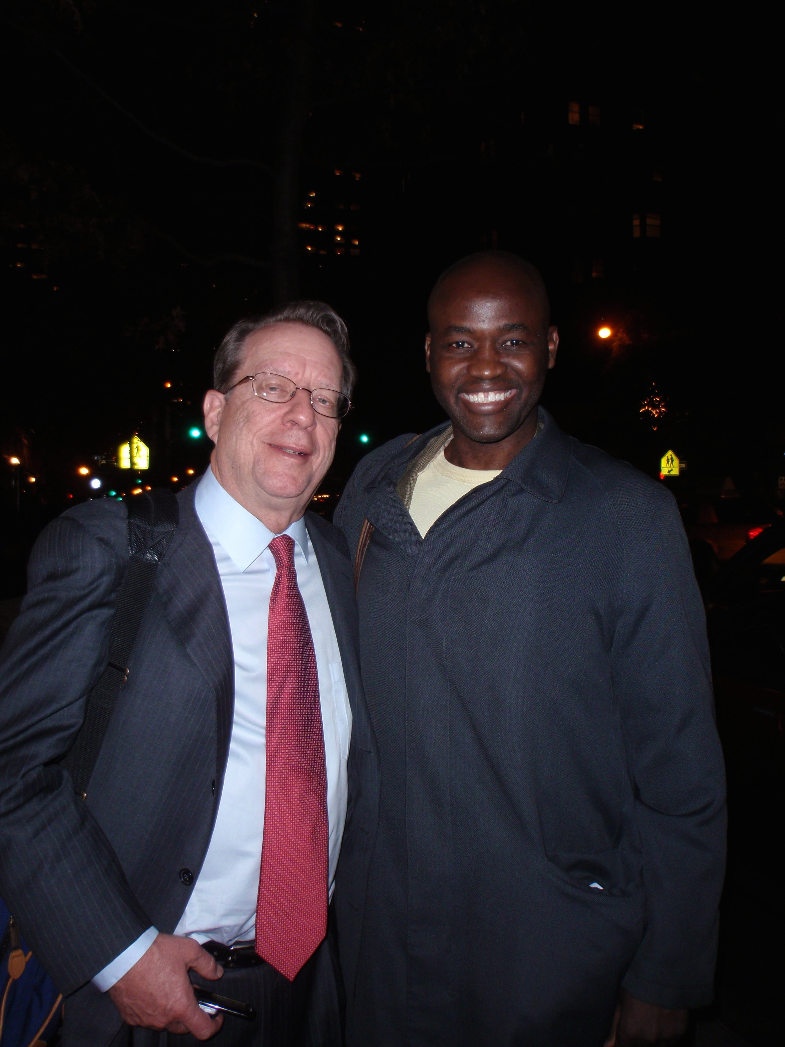 I'm with Time Inc honcho, John Huey, after we ate sushi in my neighborhood circa November 2010.