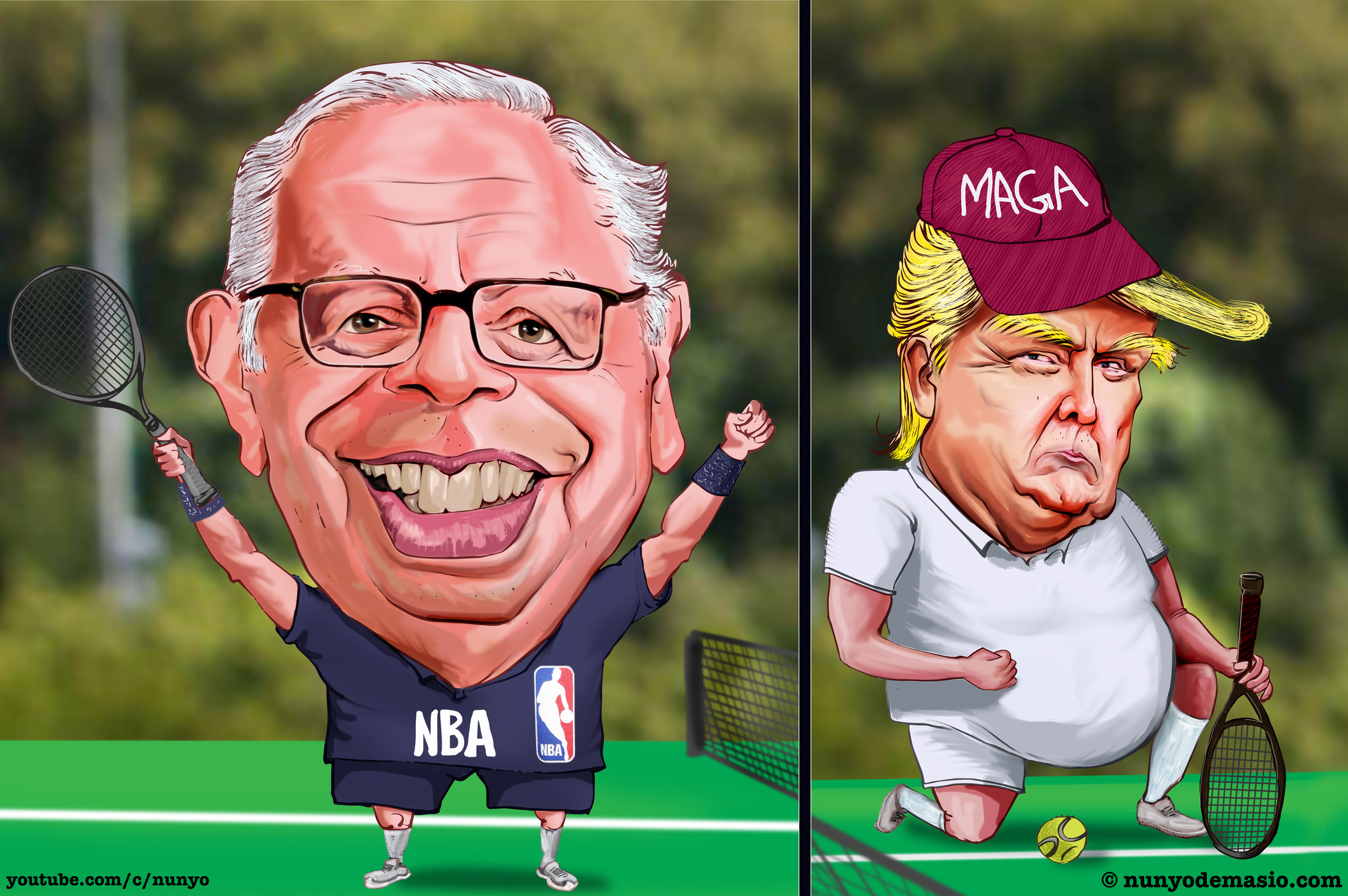 Donald Trump vs. David Stern in the Memorable Tennis Match (And the Rematch That Never Came)