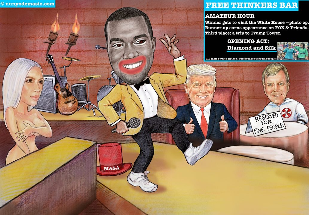 "Kanye (Bush-hates-black-people-but-I-love-Trump) West: Is the musical artist a ""free thinker"" or a narcissistic clown?"