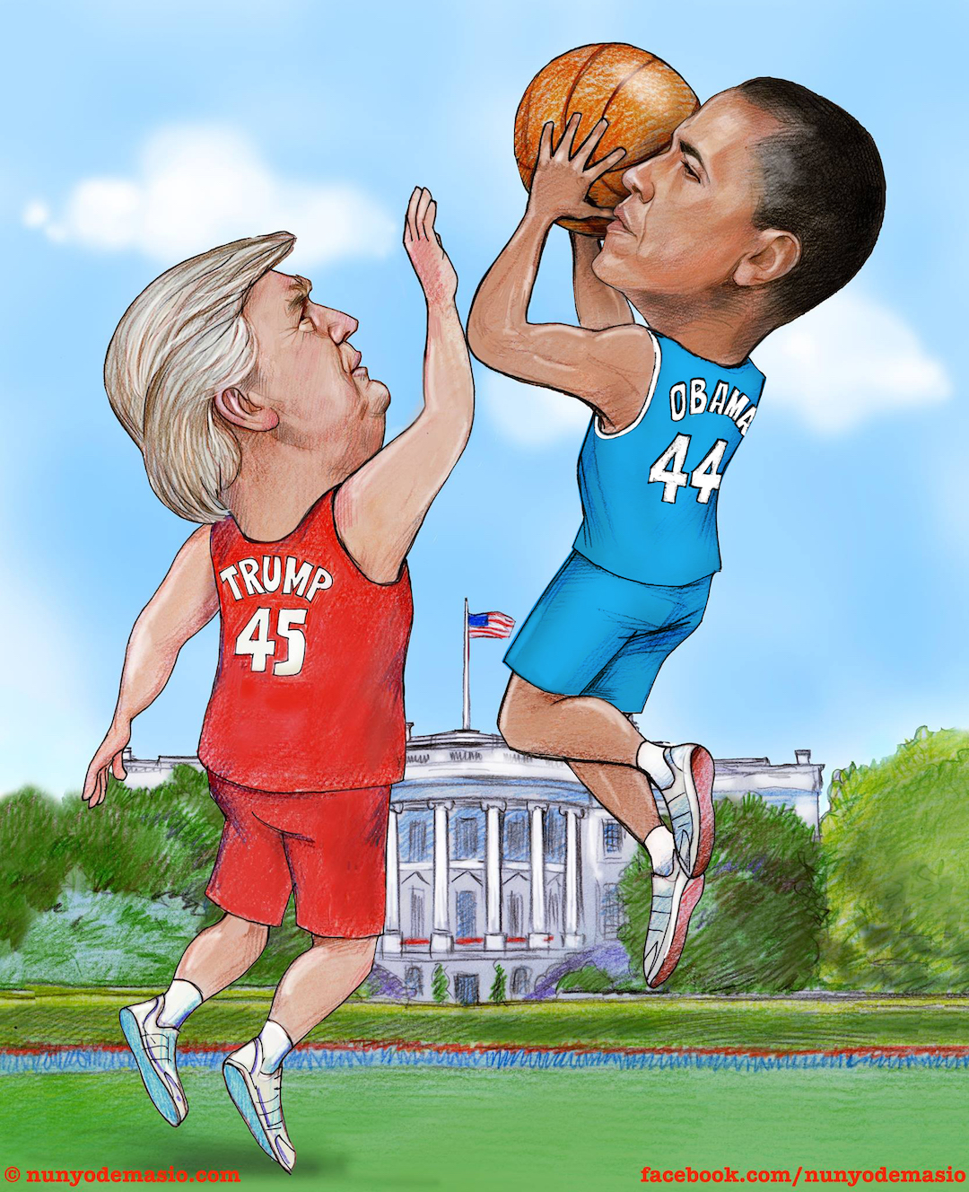 In this Twilight Zone era, perhaps a basketball contest between #44 and #45 could determine whose legacy prevails. Who has the deeper game? Place your bets!