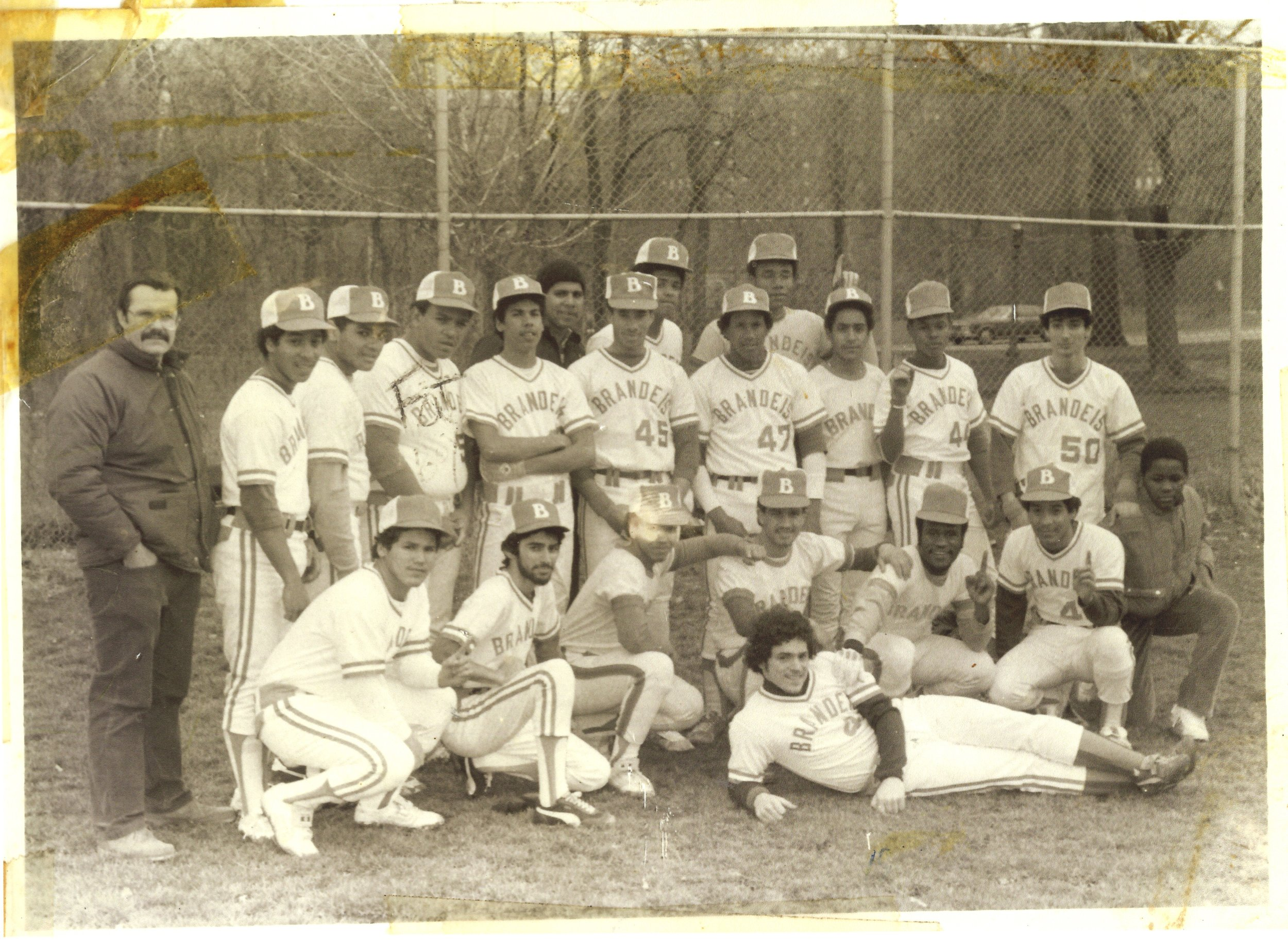 Brandeis High School's baseball team circa the mid-1980s when I acted as the squad's statistician. Can you spot me? (Mayor Michael Bloomberg would shutter the school in 2014 as part of his policy to improve public education.)