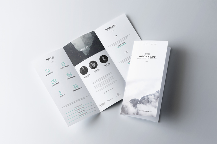 A great face-to-face way to communicate your products and services. Formats can be a simple folded half-page brochure or a trifold.