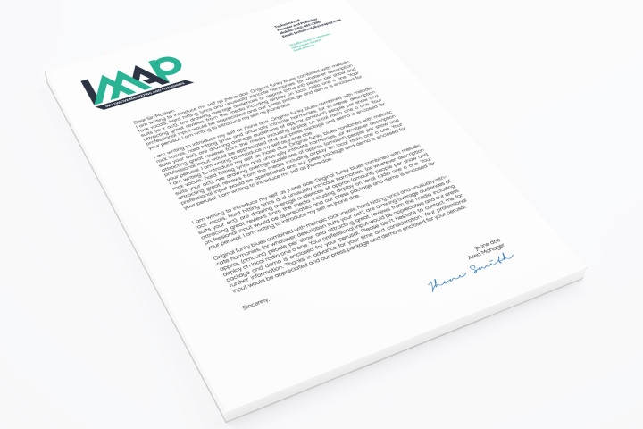 Round out your brand with professional letterhead.