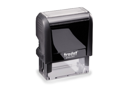 Customized rubber stamps from 4-8 lines of text. Select from red, black or blue ink.