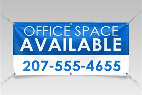 Promote your business with full-color s tandard size (3'x10') vinyl banners.