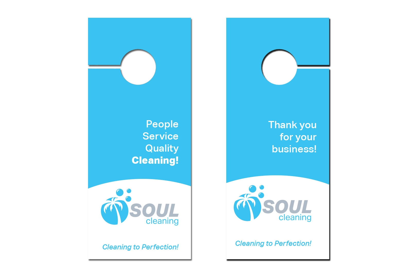 Grab attention with door hangers. Printed on durable cover stock, select from one to full color gloss.