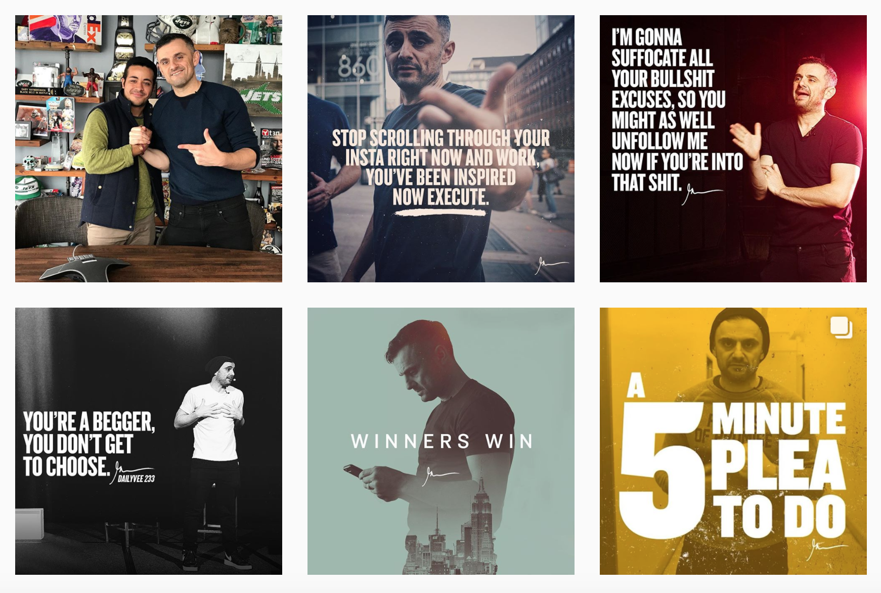 Gary Vaynerchuck on Instagram as @garyvee
