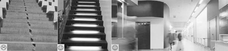 brugervenlige og dårligt designede trapper og funktionelt byggeri byggeri