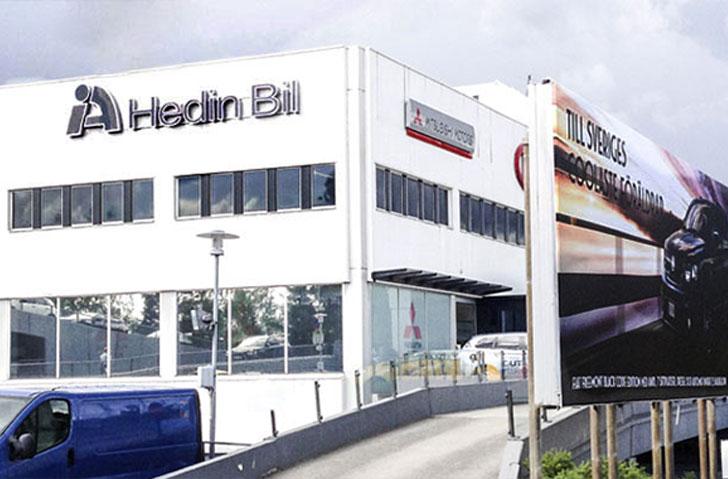 Hedin Bil   Utförande- entreprenad, ombyggnad bilhall m.m.