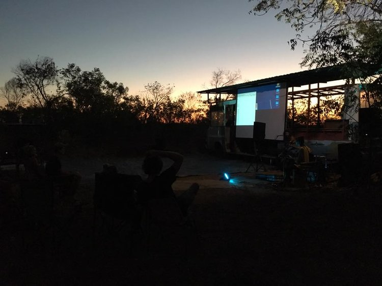 Screening of the 'Protecting Country' film at Coconut Wells, Broome, WA on the 18th August 2017