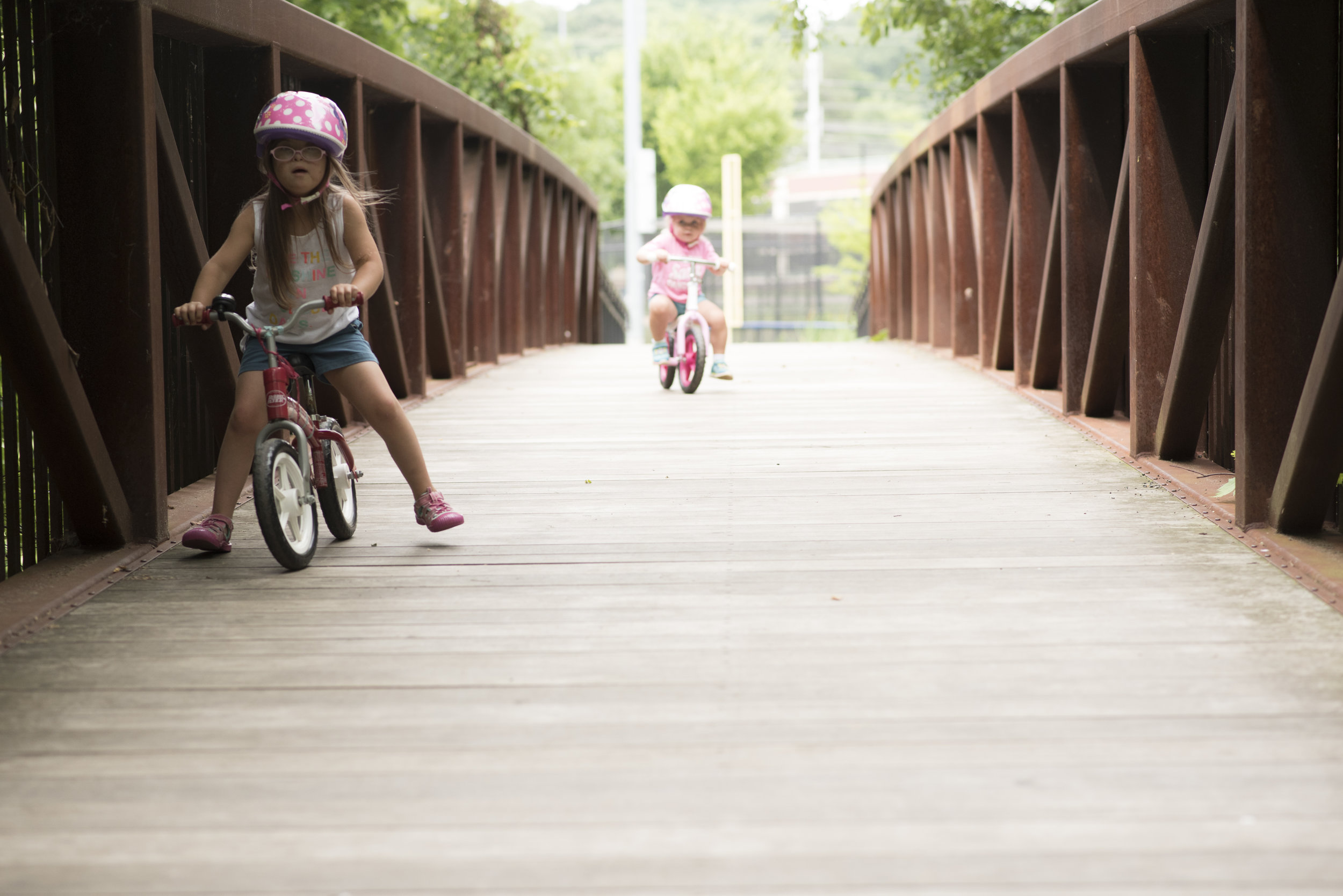 One of our favorite morning activities: Park at  Barcroft . Bike or scooter to the big playground by the picnic shelter. You might even see a turtle over by Four Mile Run!