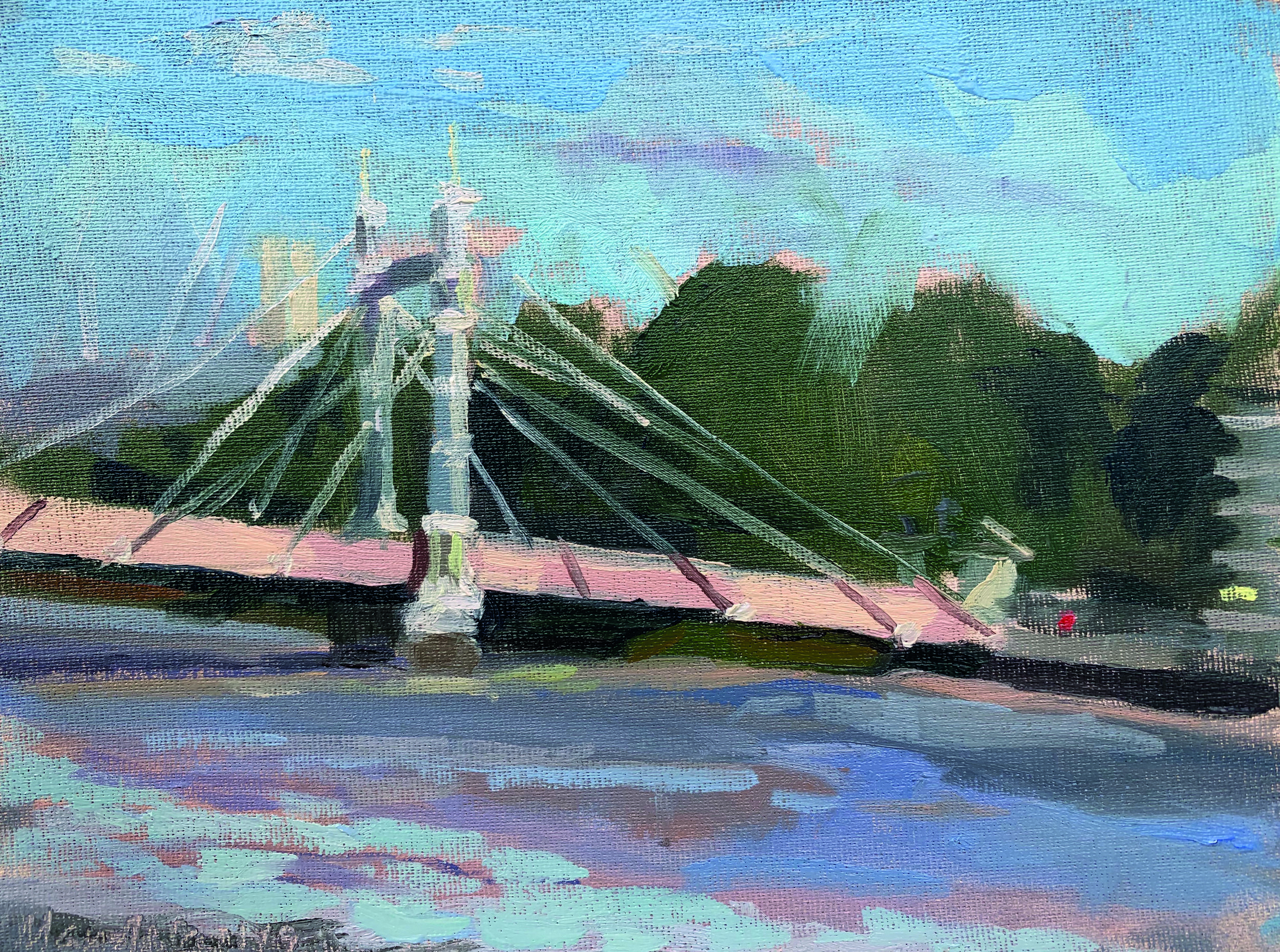 "ALBERT BRIDGE STUDY   2019 | oil on canvas panel | 8X6""  £200 (unframed)"