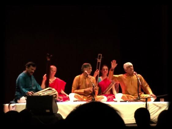 accompanying Gundecha brothers at Salle Bourgie, Montreal