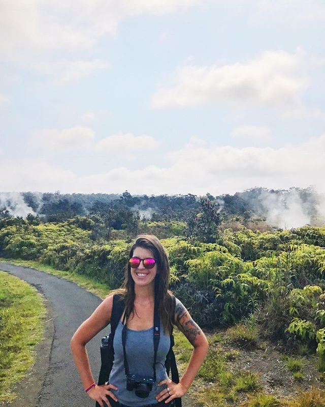 Danger zone 🚧 It's hard to believe that one year ago we were posing for pictures at @hawaiivolcanoesnps, with sulfur vents in the background, and the earth VERY MUCH alive below the surface. 🌋 The scene on the Big Island is much different now, and we think of the residents and the land every day. It's crazy to know the things we did in Hawaii last year we would not be able to do today - MANY of the places we visited are now destroyed. We spent a lot of time exploring near Kilauea last year and we're so SO thankful for that experience. . .  As we get closer to releasing our video from our 2018 Hawaii trip, we want to make it very clear that EVERYTHING we feature in the footage is still there. There are plenty of beautiful and enchanting areas on Big Island that are not affected by the volcano's eruption. In fact, if you can make a trip to Big Island soon, we'd recommend going. I can't imagine being in Hilo and seeing the glow of spewing lava fountains on the horizon. Haunting and awe-inspiring. ❤️