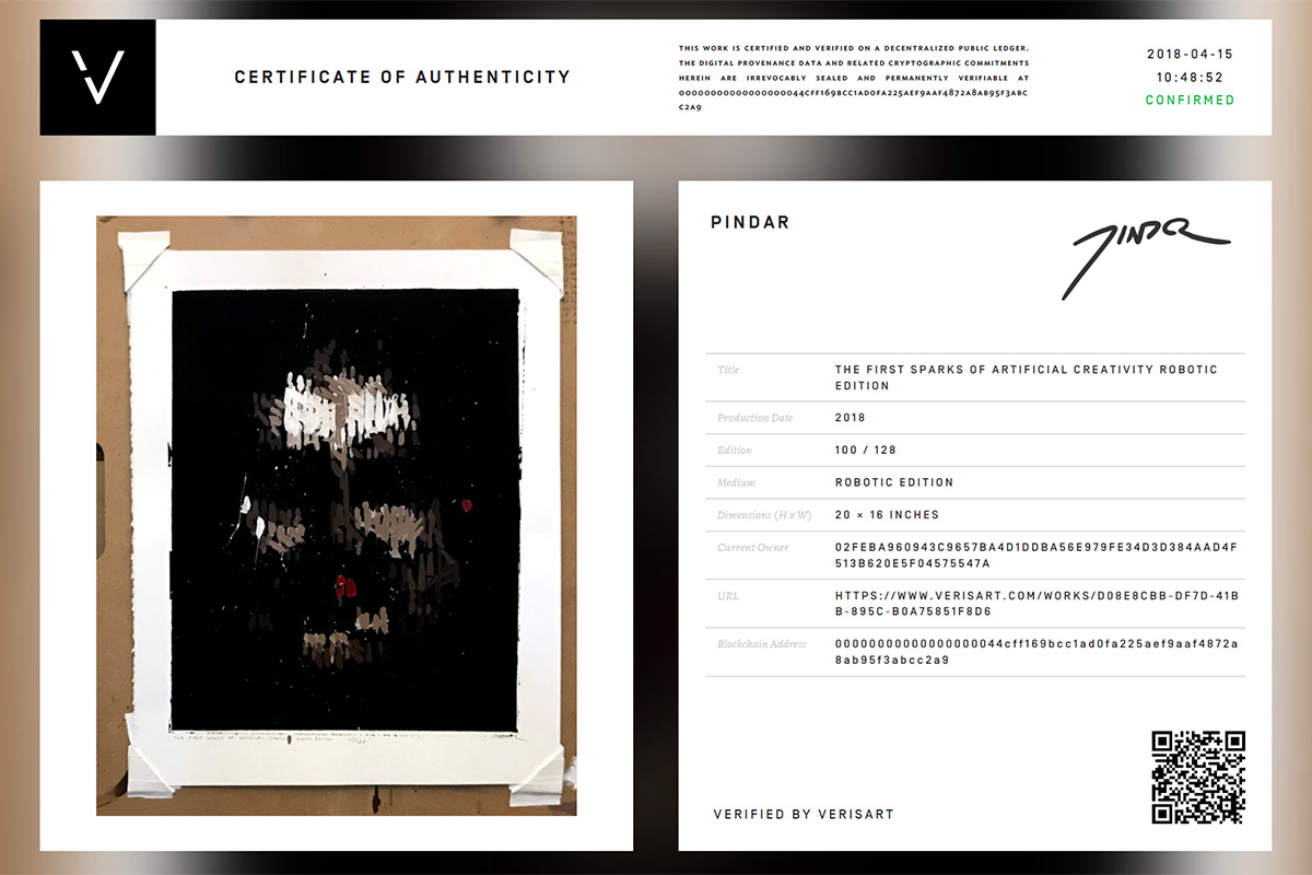 Get a digital certificate of authenticity for your limited series robotic edition...