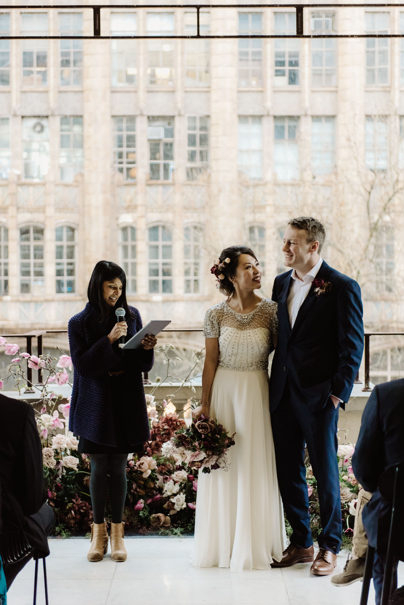 """""""Kim was simply the best celebrant we could have ever hoped for. Her energy on the day made our small ceremony filled with joy and laughter."""" - Marina + Luke / Melbourne Town Hall / Photo credit She Takes Pictures He Makes Films"""
