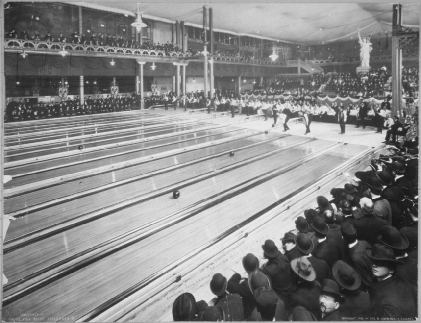 "Bowling was the ""prince of winter sports' in Delaware in the early 1900s ."