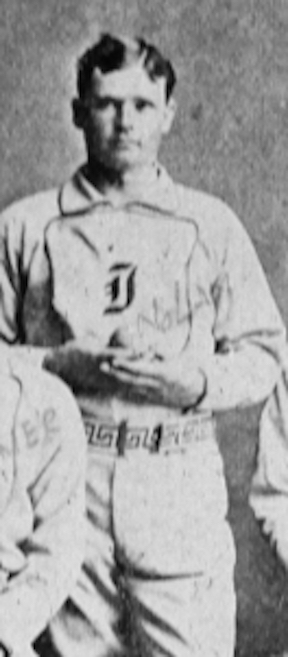 """Ed """"The Only"""" Nolan, a 27-year old Canadian pitcher, was the Quicksteps top-paid player. Seven years earlier while pitching in the minor leagues for Indianapolis Nolan threw 76 complete games, won 64 and pitched 30 shutouts - all records in professional ball."""