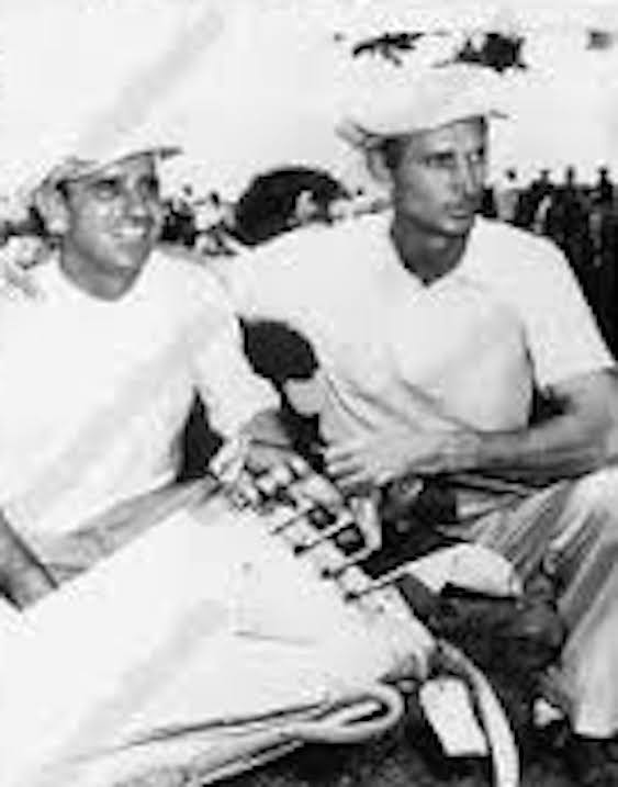 """Dave Douglas (right) won eight PGA Tour titles     but not a great deal of recognition.    When he won his second tournament in San Antonio the local papers announced the he was     """"practically born and raised on his father's     Park Manor golf course in Delaware, Maryland."""""""