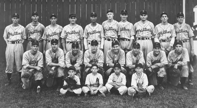 Phillies minor leaguers in the 1940s.