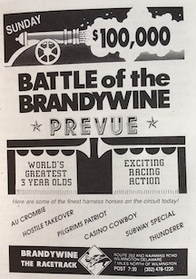 The annual renewal of the Battle of the Brandywine was the Delaware Valley's richest harness race, attracting the best standardbreds in America.
