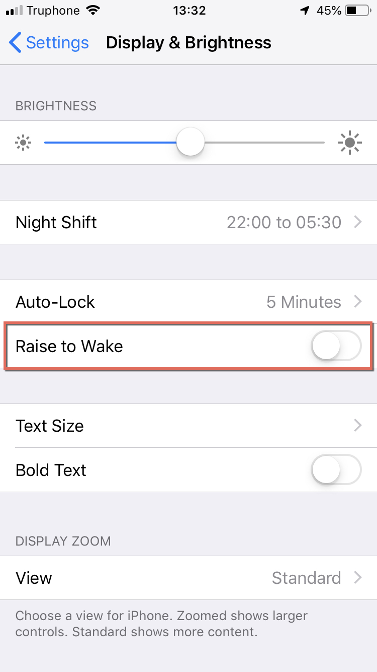 "Turn ""Raise to Wake""  OFF"