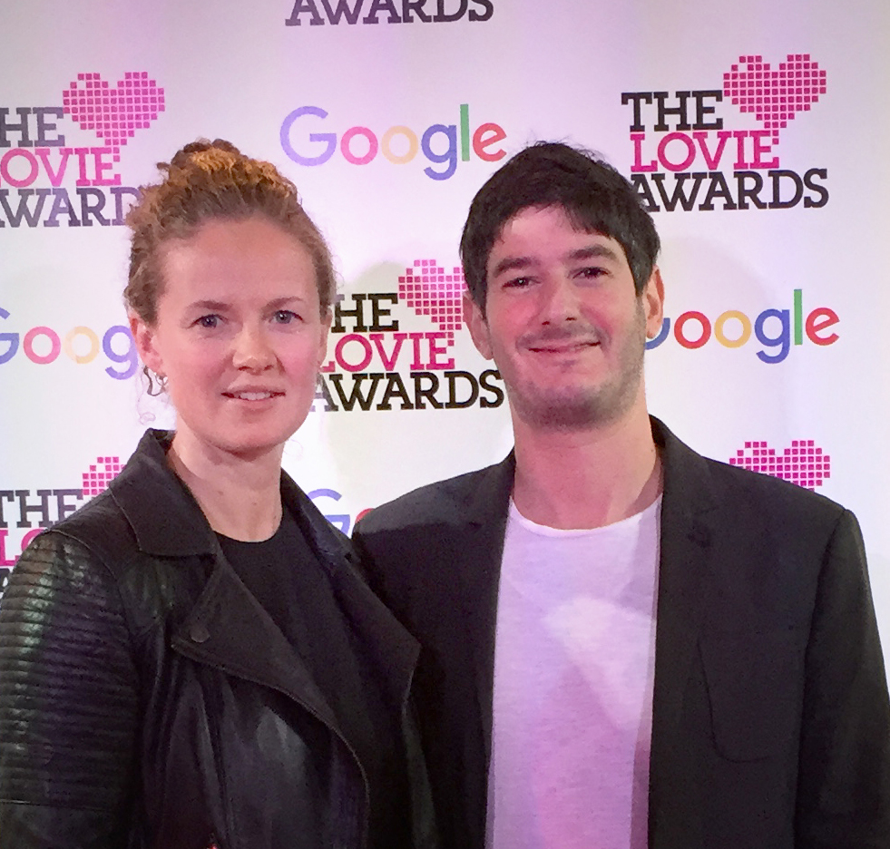 Dan Susman with producer Jess Gormley at the Lovie Awards