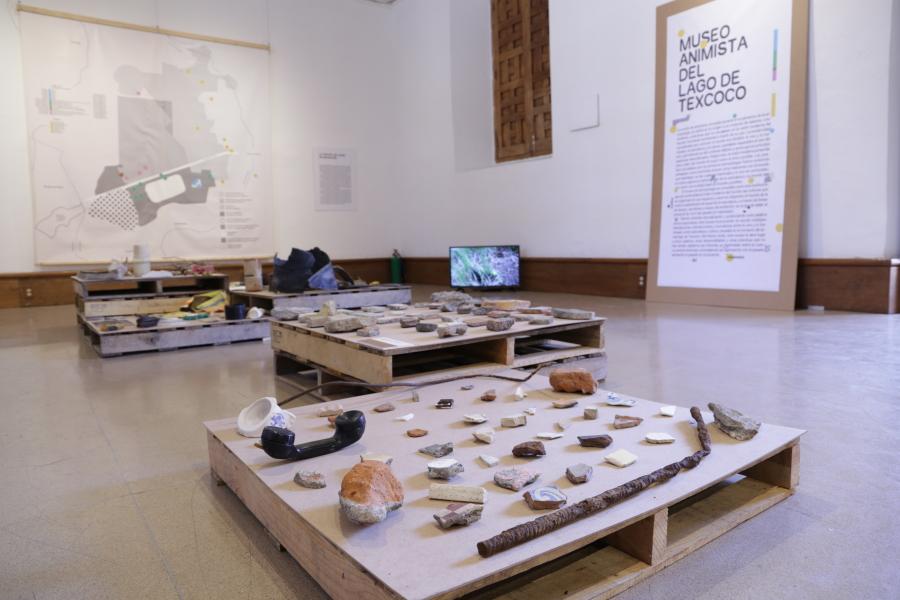 Instalación de la colección del MALT en el Centro Cultural Clavijero, Morelia, México.   Installation of the AMLT's collection at Clavijero Cultural Center, Morelia, Mexico.
