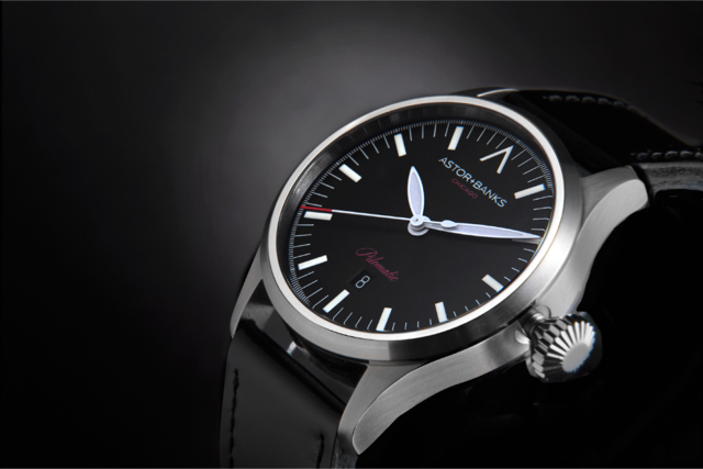 A Pilomatic model shown with black dial, using an automatic ETA 2824-2 movement.