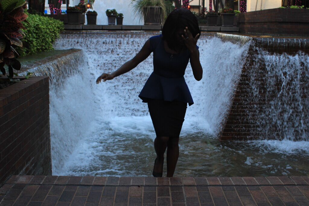 That time I almost fell in a fountain AND forgot to check my lighting