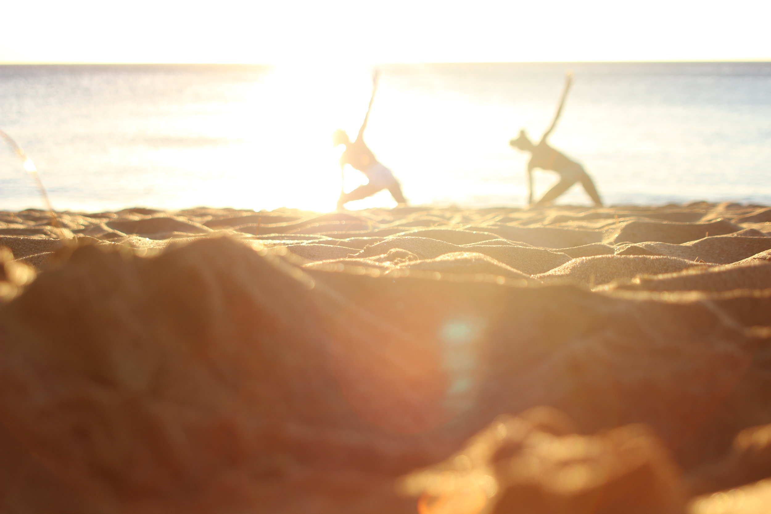 My littler sister and I decided to do yoga while we watched the sunset. The sun sets very quickly in Maui, it takes less than 15 minutes.