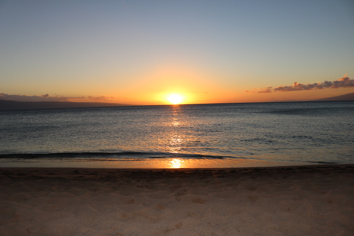 Sunset at Ka'anapali Beach at the Westin Nanea