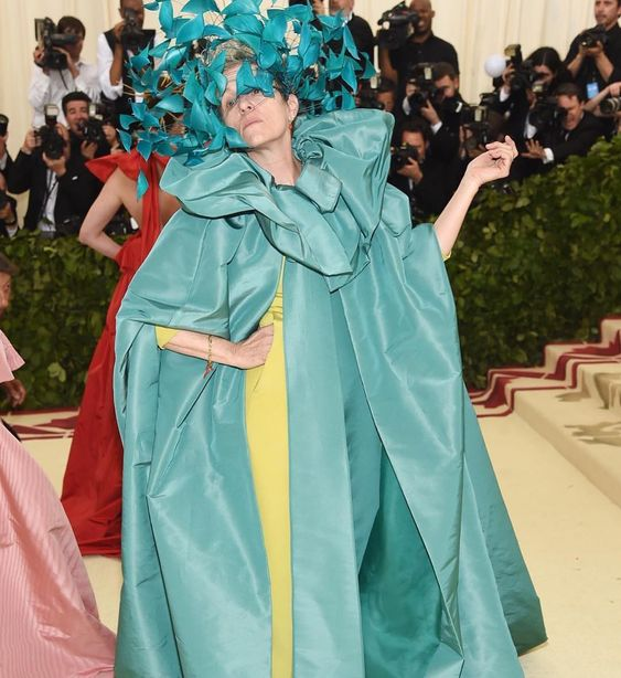 Frances McDormand donned one of the most inspiring looks of the night. Her dramatic pose really completed the look!