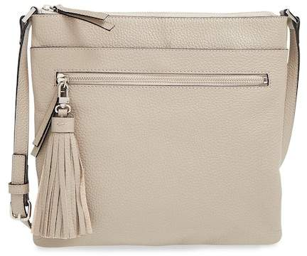 Halogen Tasseled Leather Cross Body Bag
