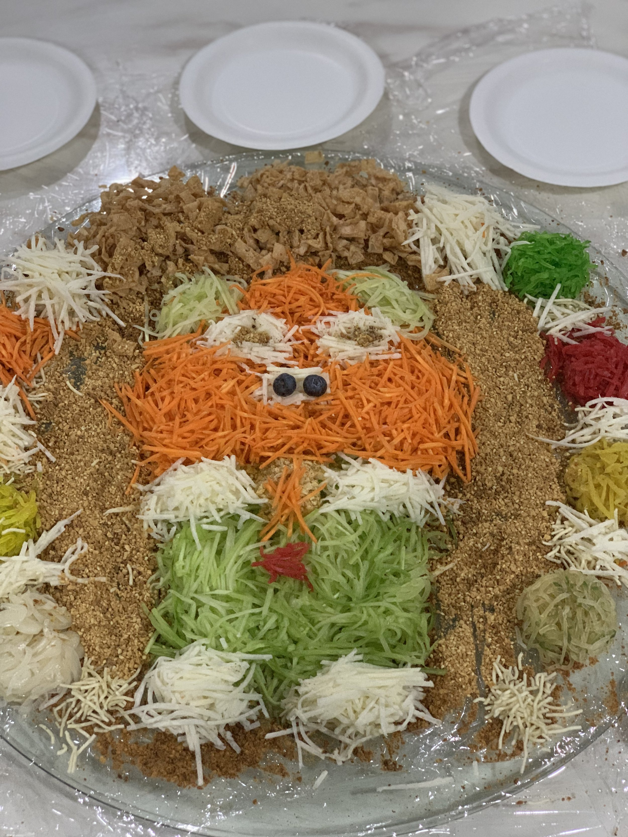 Yee sang (in the shape of a pig for the year of the pig)